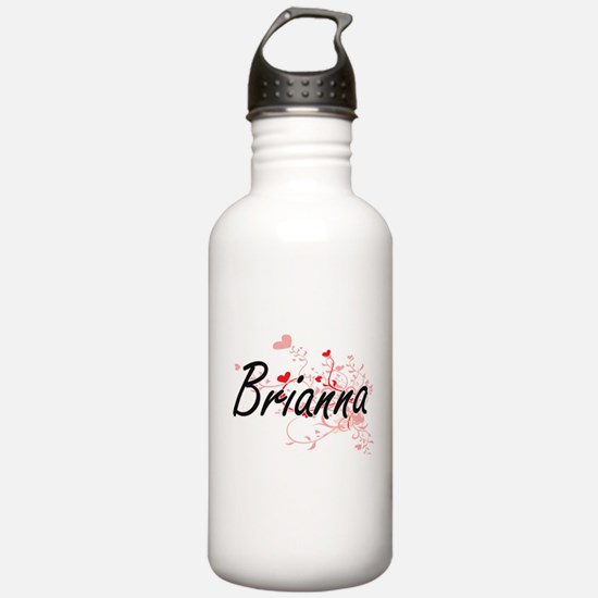 Brianna Artistic Name Sports Water Bottle