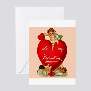 Victorian Valentine Heart Greeting Card
