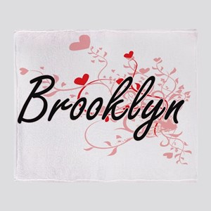 Brooklyn Artistic Name Design with H Throw Blanket