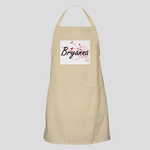 Bryanna Artistic Name Design with Hearts Apron