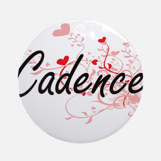 Cadence Artistic Name Design with Ornament (Round)