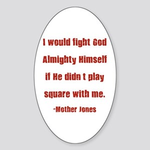 Mother Jones Oval Sticker