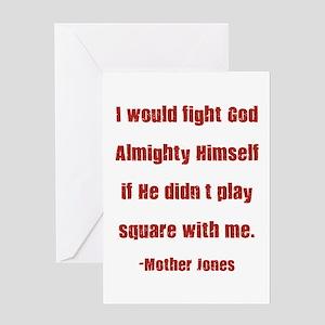 Mother Jones Greeting Card