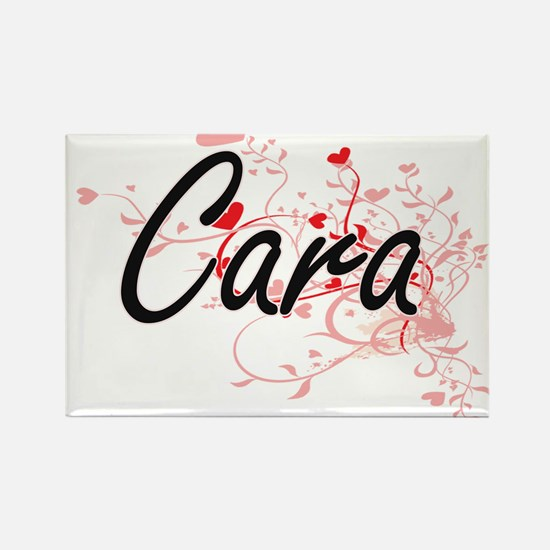 Cara Artistic Name Design with Hearts Magnets