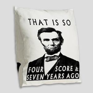 Abe Lincoln Burlap Throw Pillow