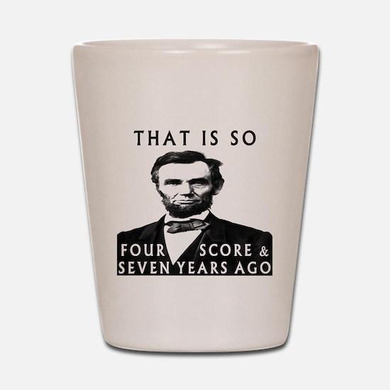 Abe Lincoln Shot Glass