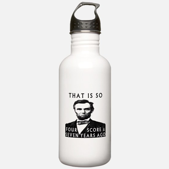 Abe Lincoln Water Bottle