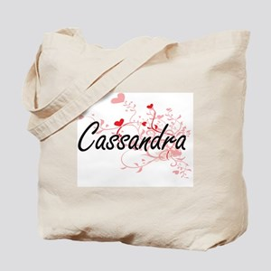 Cassandra Artistic Name Design with Heart Tote Bag