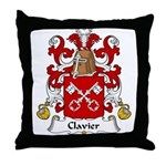 Clavier Family Crest Throw Pillow