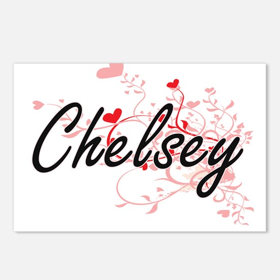 Chelsey Artistic Name Des Postcards (Package of 8)