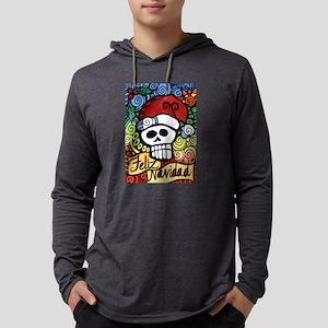 Feliz Navidad Sugar Skull Chri Long Sleeve T-Shirt
