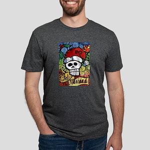 Feliz Navidad Sugar Skull Christmas Santa T-Shirt