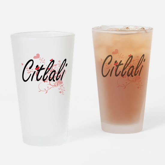 Citlali Artistic Name Design with H Drinking Glass