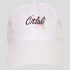 Citlali Artistic Name Design with Hearts Cap