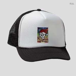 Day of the Dead Feliz Navidad Sug Kids Trucker hat