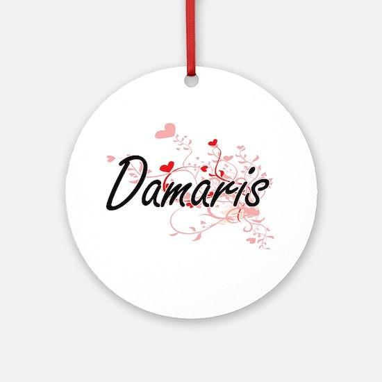 Damaris Artistic Name Design with Ornament (Round)