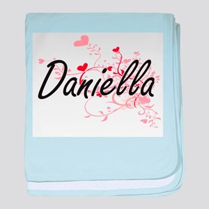 Daniella Artistic Name Design with He baby blanket