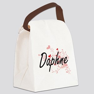 Daphne Artistic Name Design with Canvas Lunch Bag