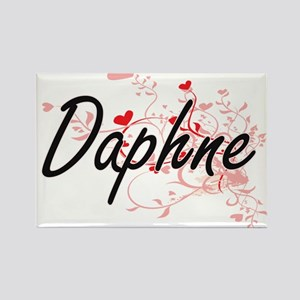 Daphne Artistic Name Design with Hearts Magnets