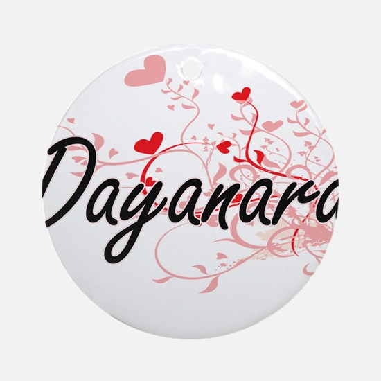 Dayanara Artistic Name Design wit Ornament (Round)