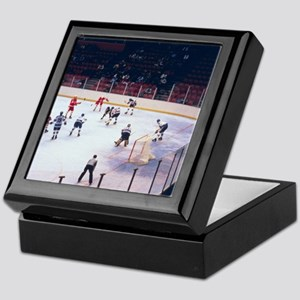 Vintage Ice Hockey Match Keepsake Box