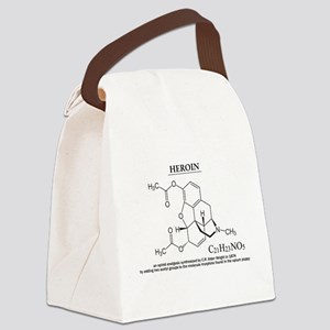heroin: Chemical structure and formula Canvas Lunc