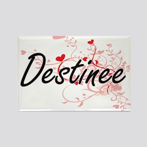 Destinee Artistic Name Design with Hearts Magnets