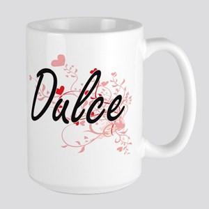 Dulce Artistic Name Design with Hearts Mugs