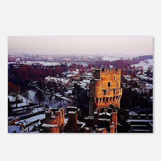 Snowy Warwick Castle Postcards (Package of 8)