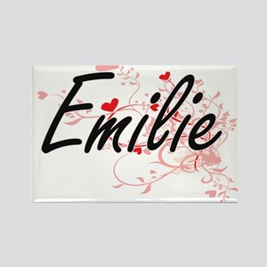 Emilie Artistic Name Design with Hearts Magnets