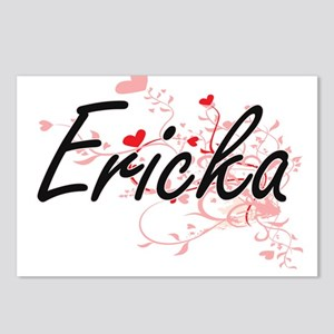 Ericka Artistic Name Desi Postcards (Package of 8)