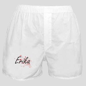Erika Artistic Name Design with Heart Boxer Shorts