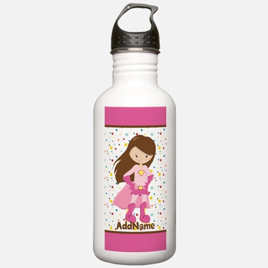 Pink Girl Superhero Pe Sports Water Bottle