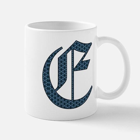 E monogram old english Mugs