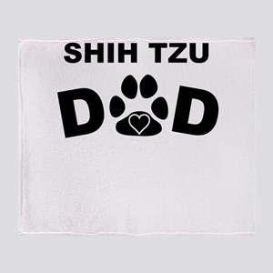 Shih Tzu Dad Throw Blanket