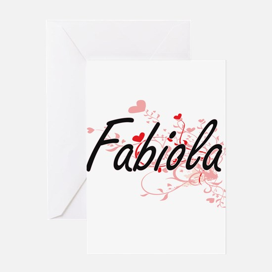 Fabiola Artistic Name Design with H Greeting Cards
