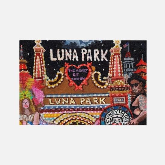 Luna Park Coney Island, New York  Rectangle Magnet