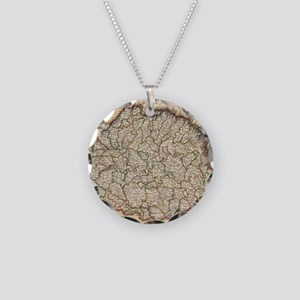 Vintage Map of Hungary (1817 Necklace Circle Charm
