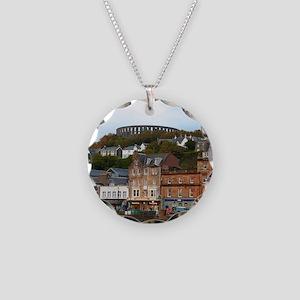 Oban, Scotland Necklace Circle Charm