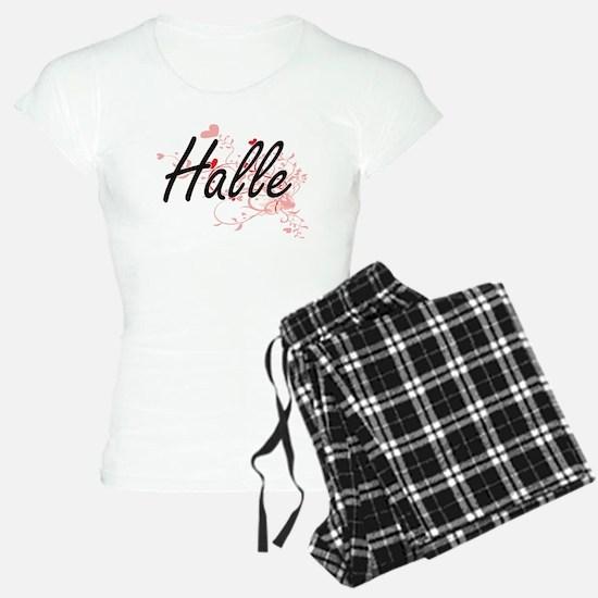 Halle Artistic Name Design Pajamas