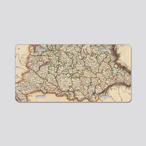 Vintage Map of Hungary (181 Aluminum License Plate