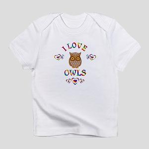 I Love Owls Infant T-Shirt