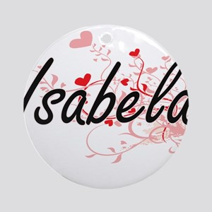 Isabela Artistic Name Design with Ornament (Round)