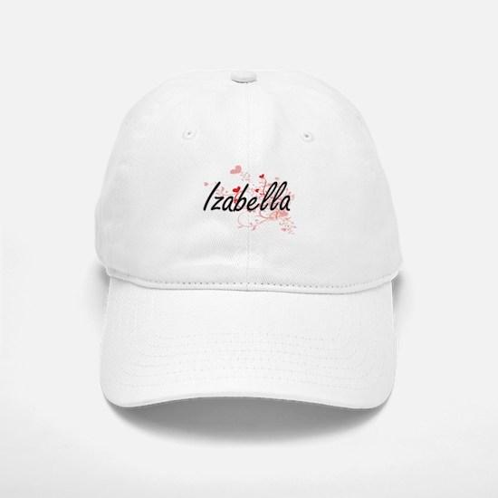 Izabella Artistic Name Design with Hearts Cap
