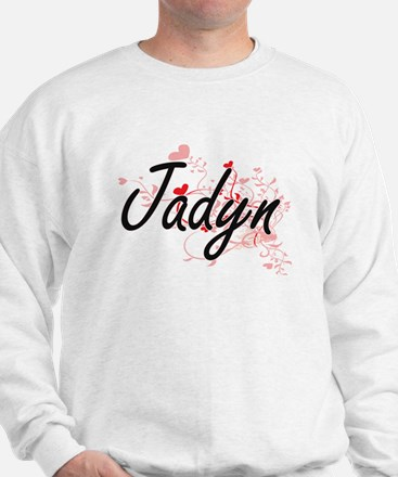 Jadyn Artistic Name Design with Hearts Jumper