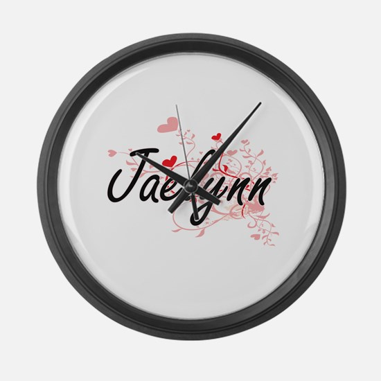 Jaelynn Artistic Name Design with Large Wall Clock