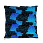 Blue Ocean Sea Snake pattern sq3 Everyday Pillow