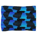 Blue Ocean Sea Snake pattern sq3 Pillow Sham