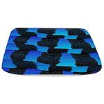 Blue Ocean Sea Snake pattern sq3 Bathmat