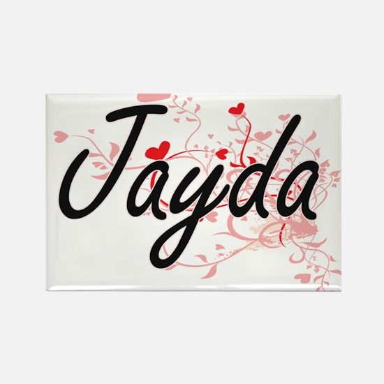 Jayda Artistic Name Design with Hearts Magnets